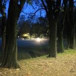 L'acqua si ritira dal parco Lambro