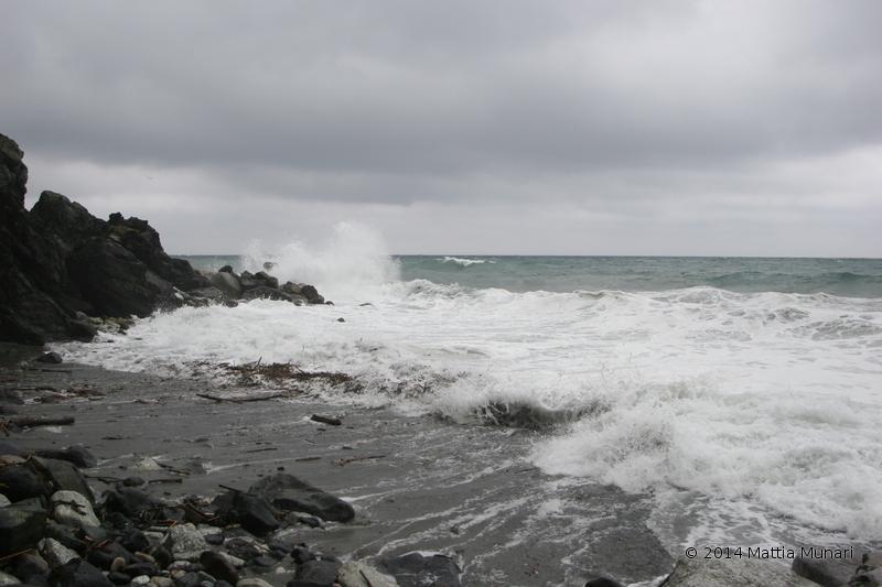 Mareggiata Baia del Corvo