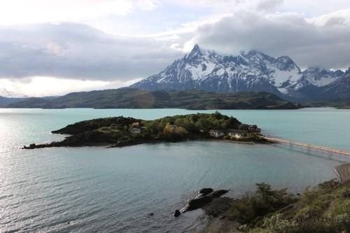 Il lago Pehoe e le Torres del Paine