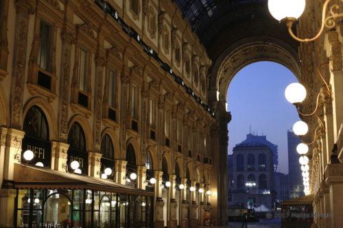 Il museo del '900 dalla galleria Vittorio Emanuele