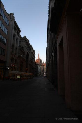 Arrivando al Duomo